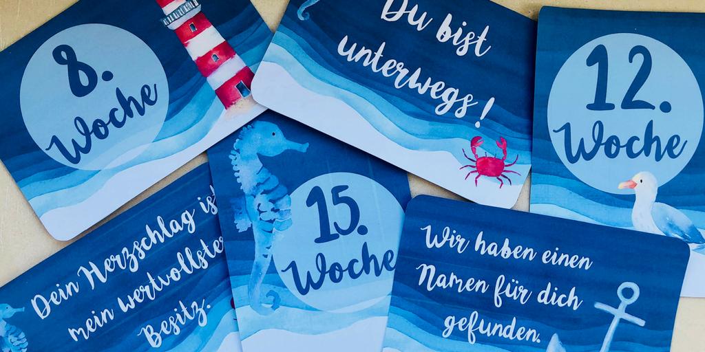 {free} maritime Meilensteinkarten